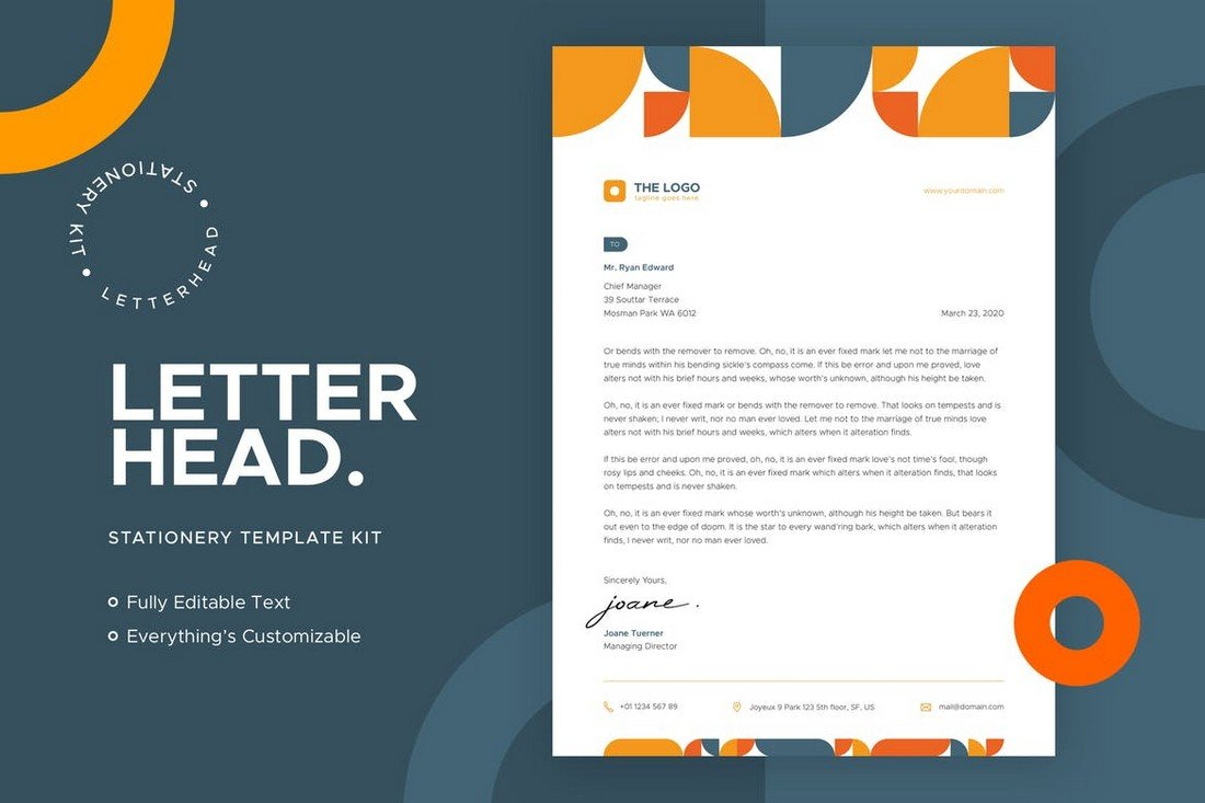 Agency Letterhead Print Template