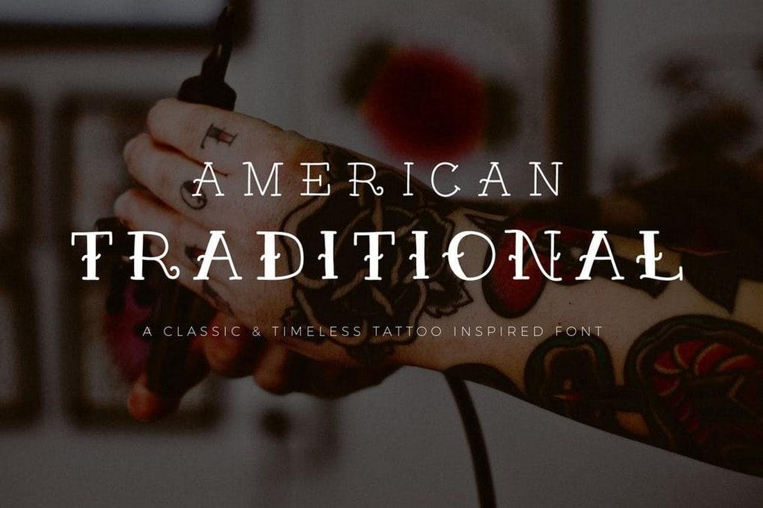 American Traditional - Tattoo Font