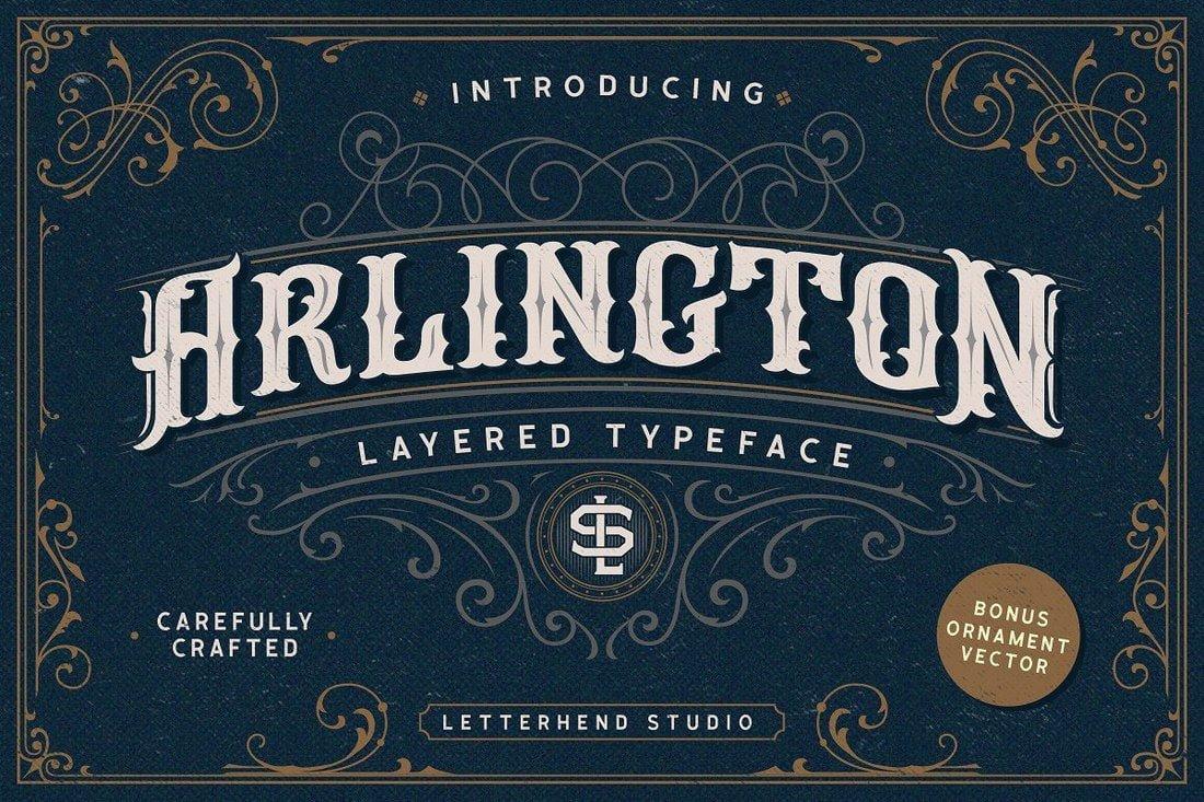 Arlington - Free Layered Tattoo Font