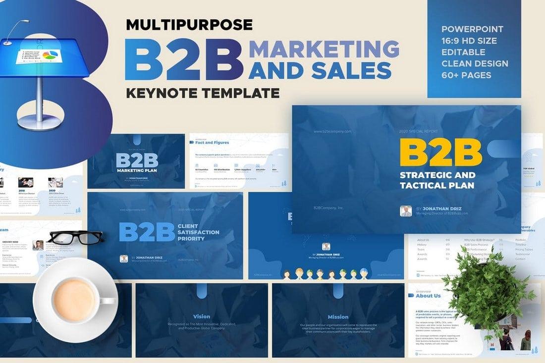 B2B Marketing and Sales keynote template