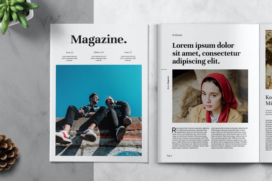 BRAYN - Lifestyle Magazine Affinity Publisher Template