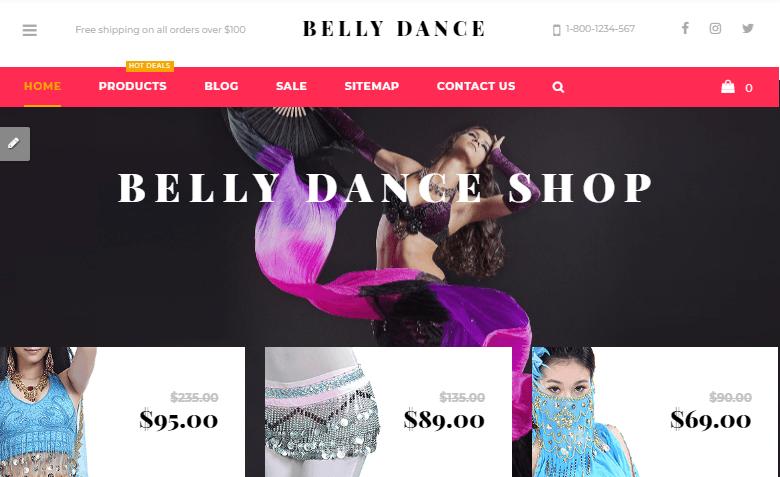 Belly Dance Shopify Theme