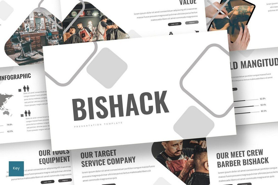 Bishack - Modern Keynote Template