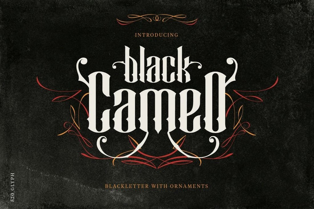 Black Cameo font