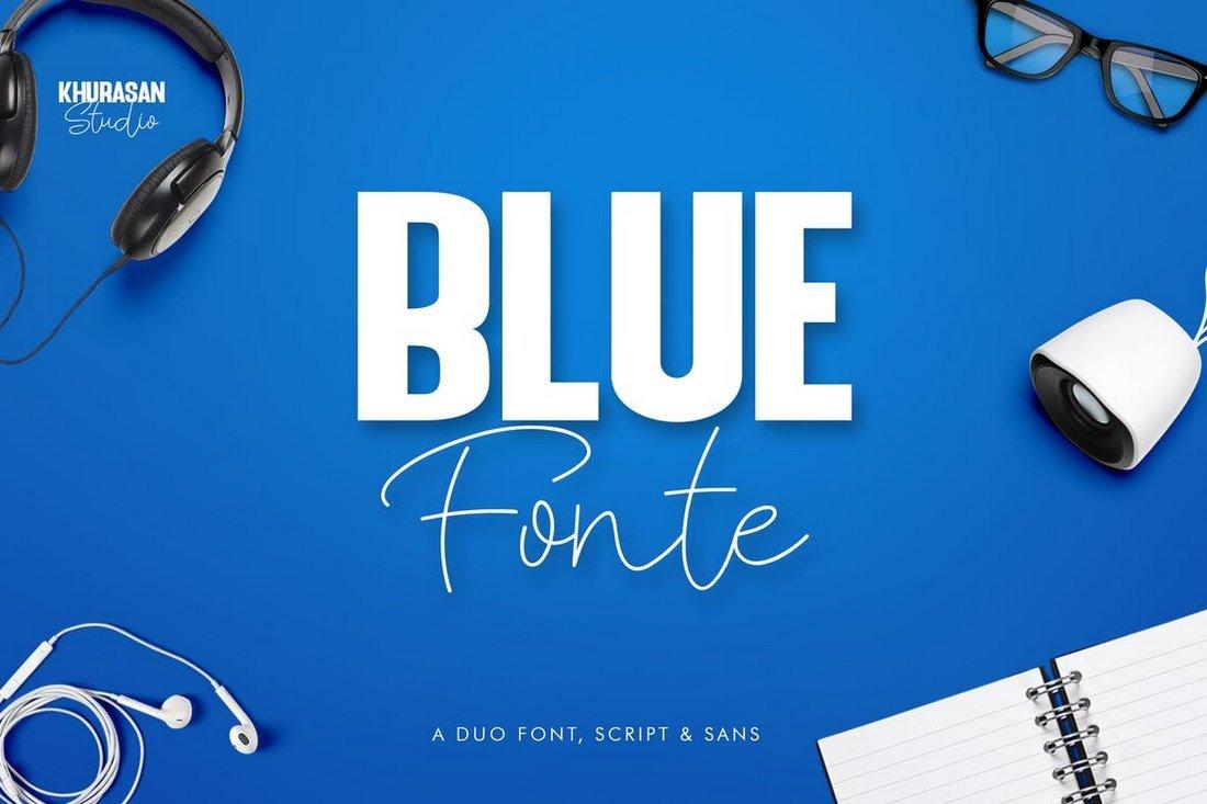 Blue Fonte - Stylish Font Duo