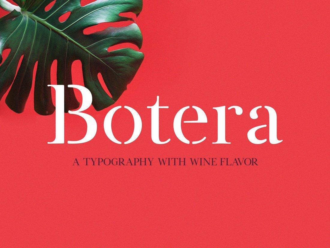 Botera - Free Modern Stencil Font