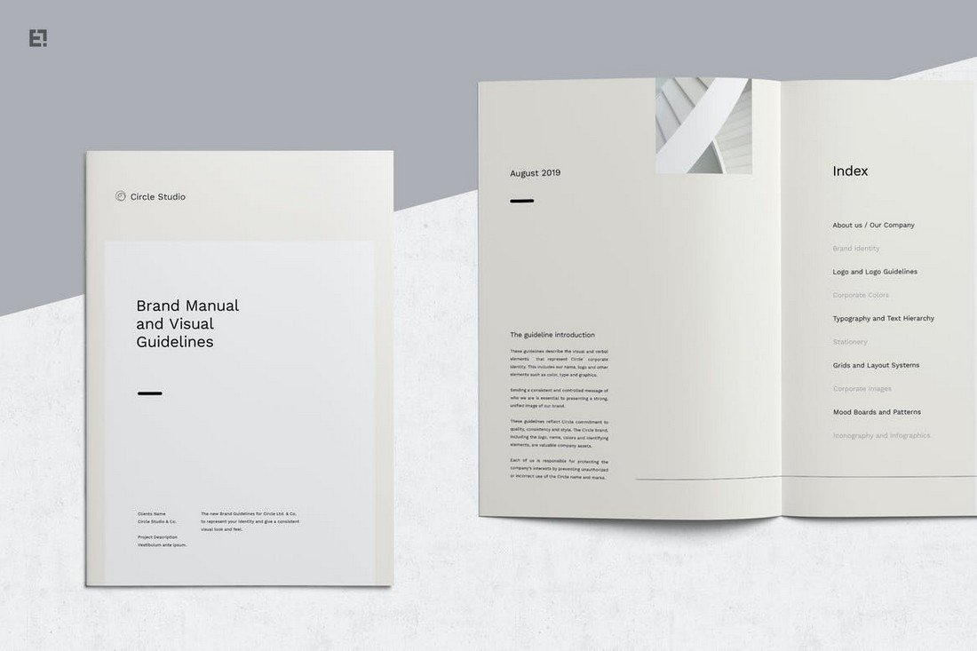 Brand Guidelines - Minimalist Affinity Publisher Template