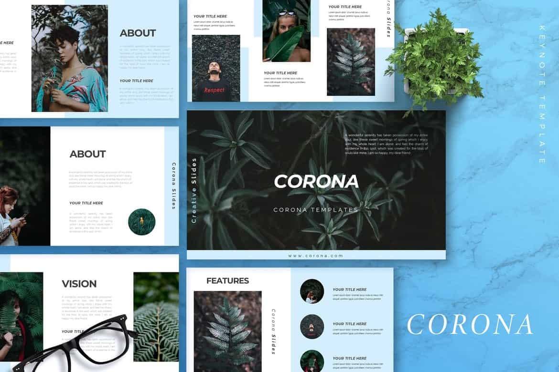 CORONA - Creative Keynote Template
