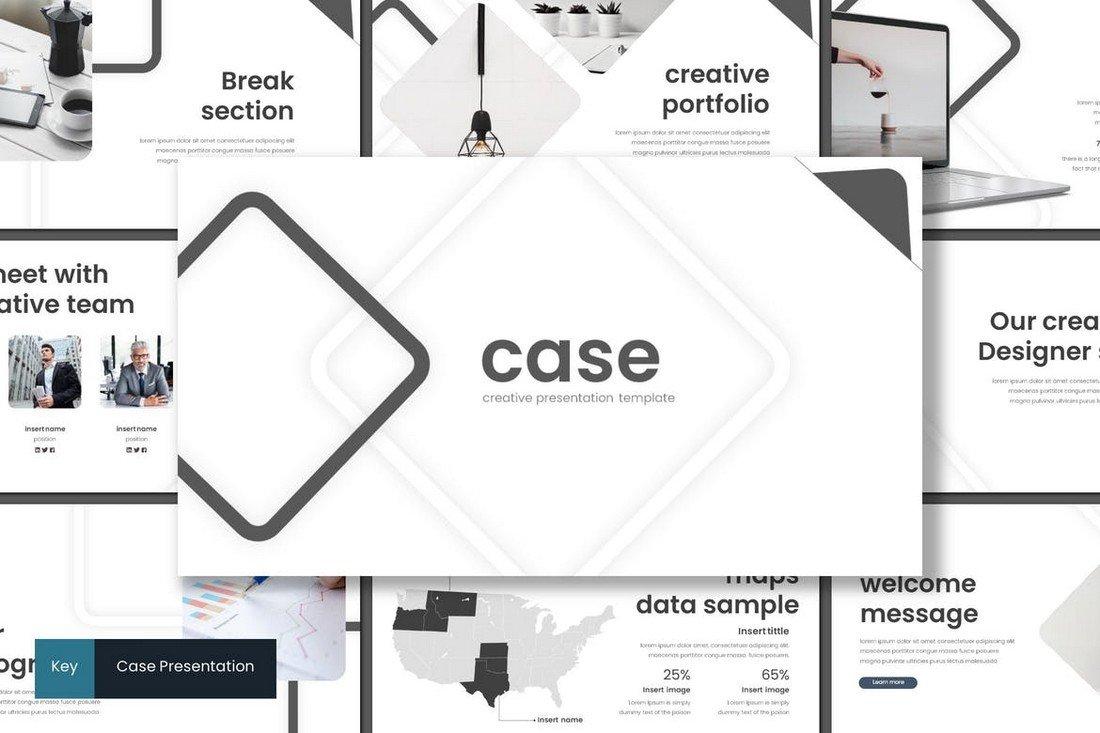 Case - Minimal Keynote Template