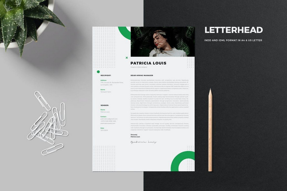Clean Letterhead Design Template