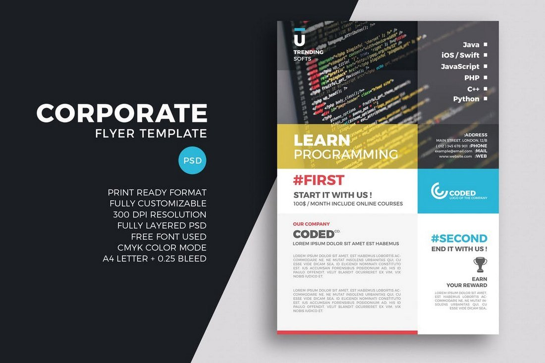 Coding Business Corporate Flyer Template