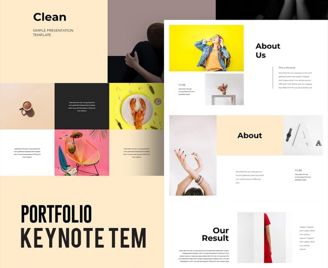 Colorful Portfolio - Free Keynote Template