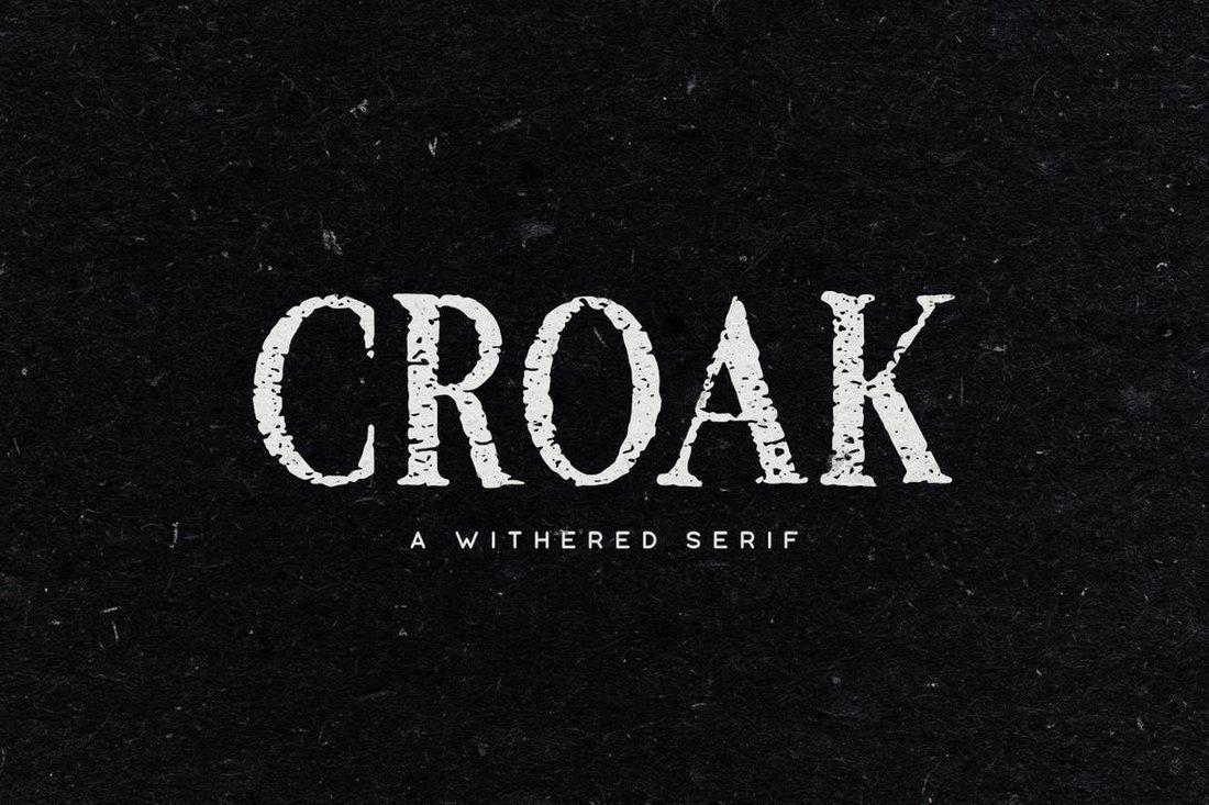 Croak - Halloween Font