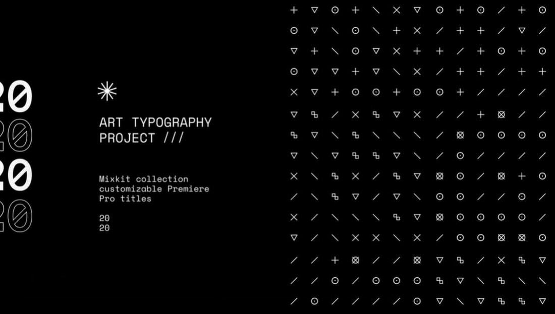 Cube Glyph Title - Free Premiere Pro Template