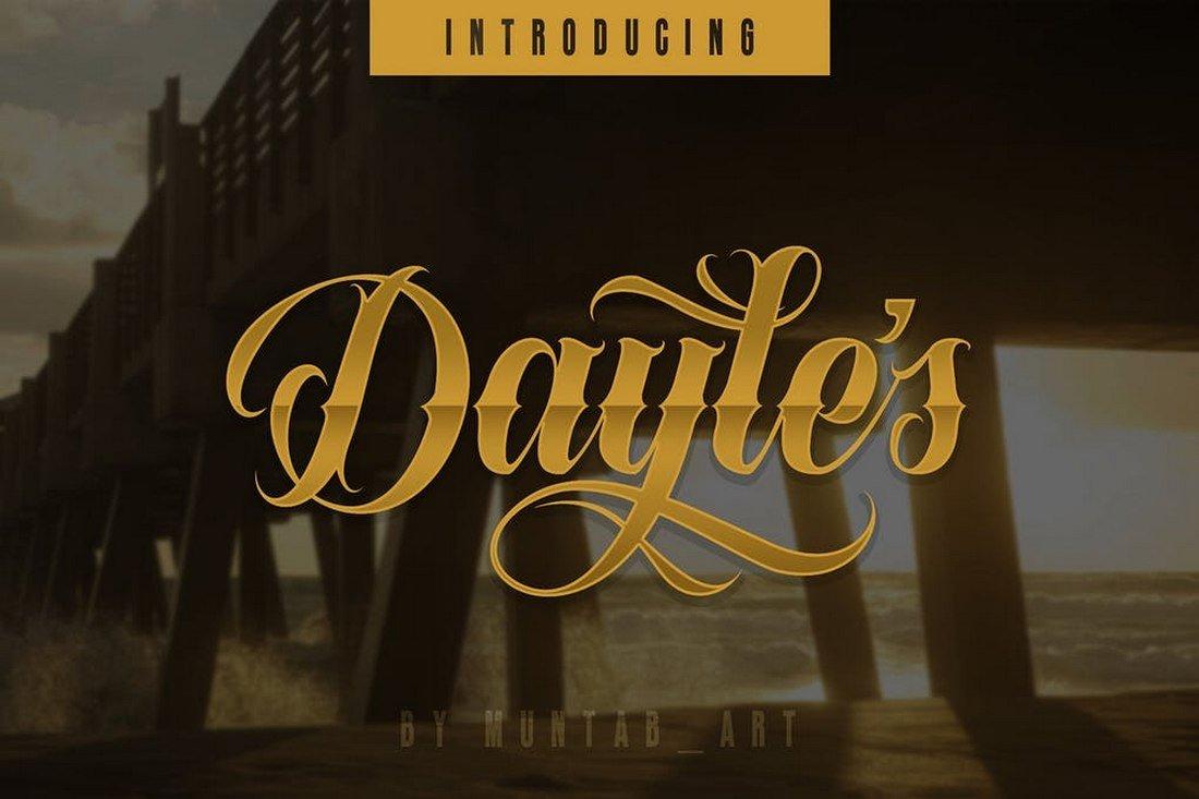 Dayles - Script Tattoo Font