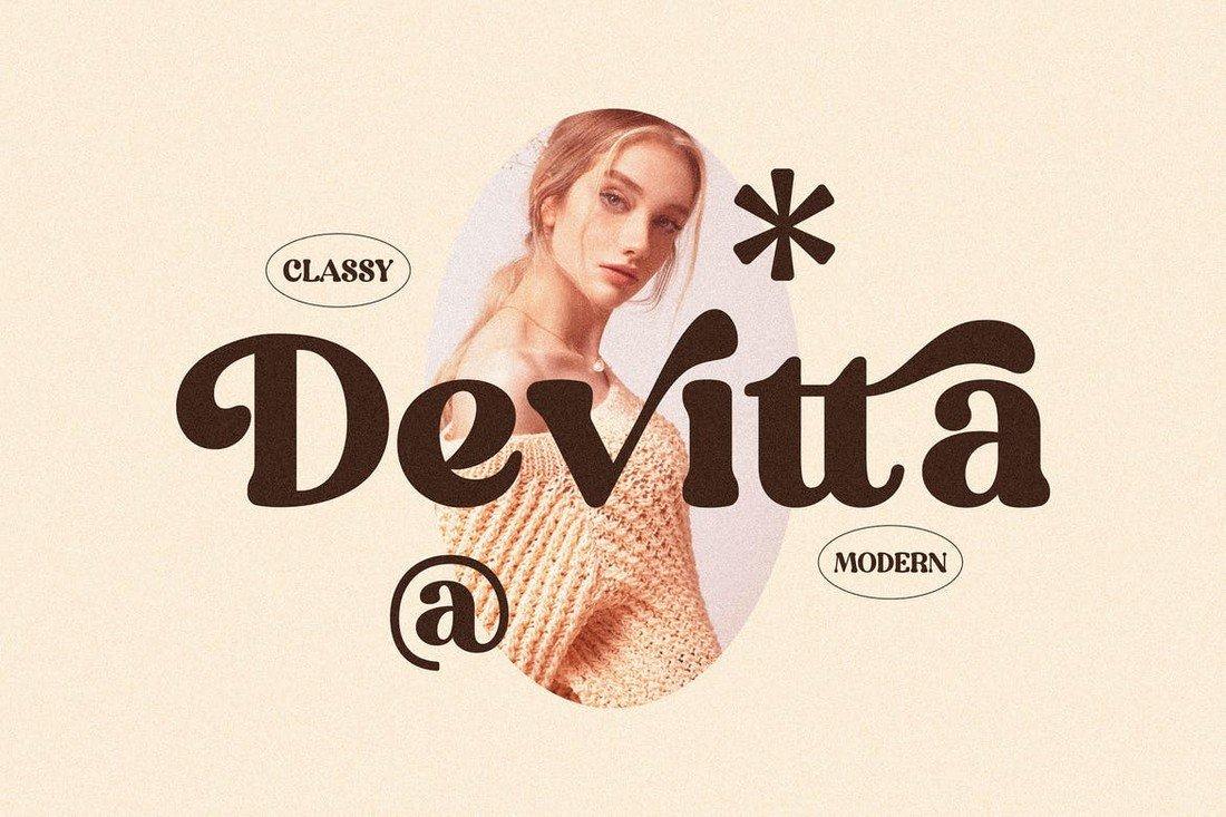 Devitta - Modern-Vintage Serif Font