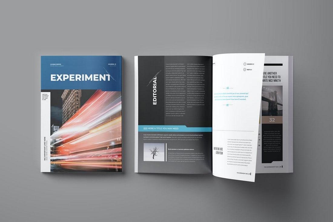 Experiment - Affinity Publisher Magazine Template