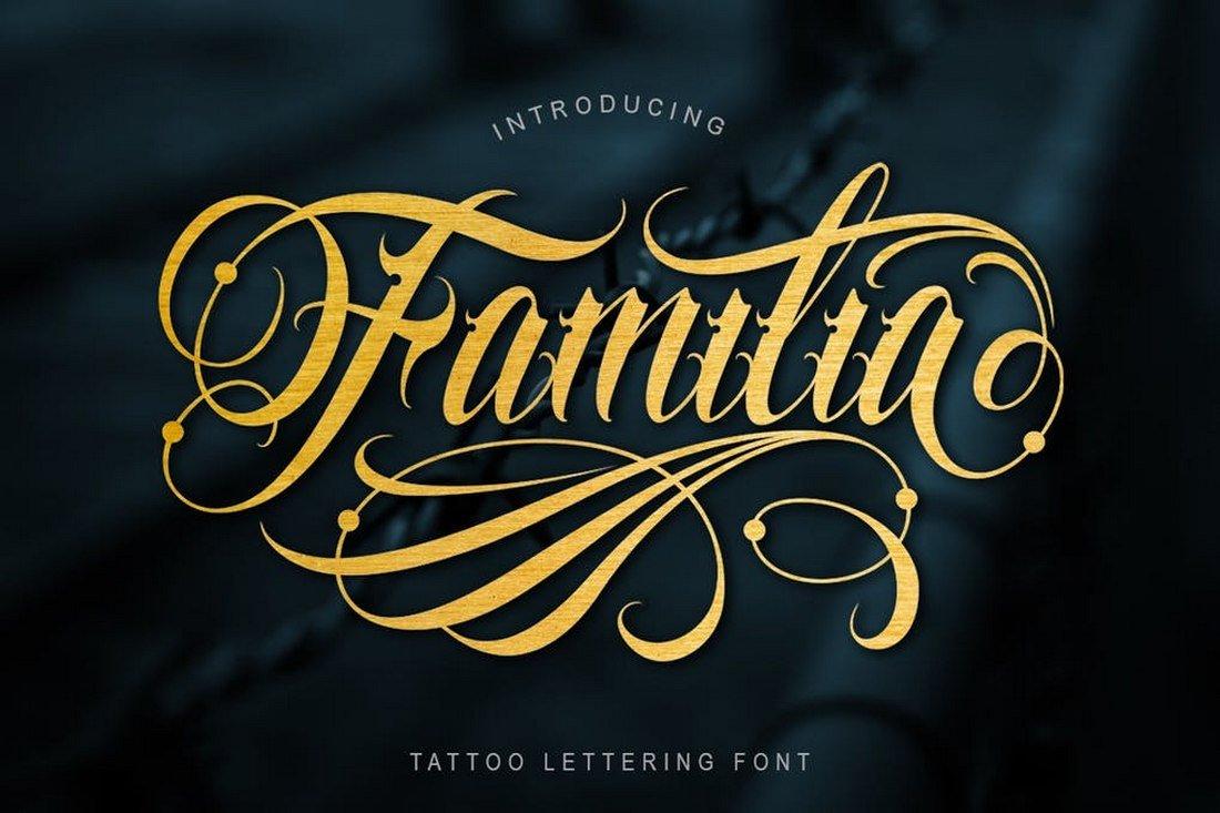 Familia - Tattoo Lettering Font