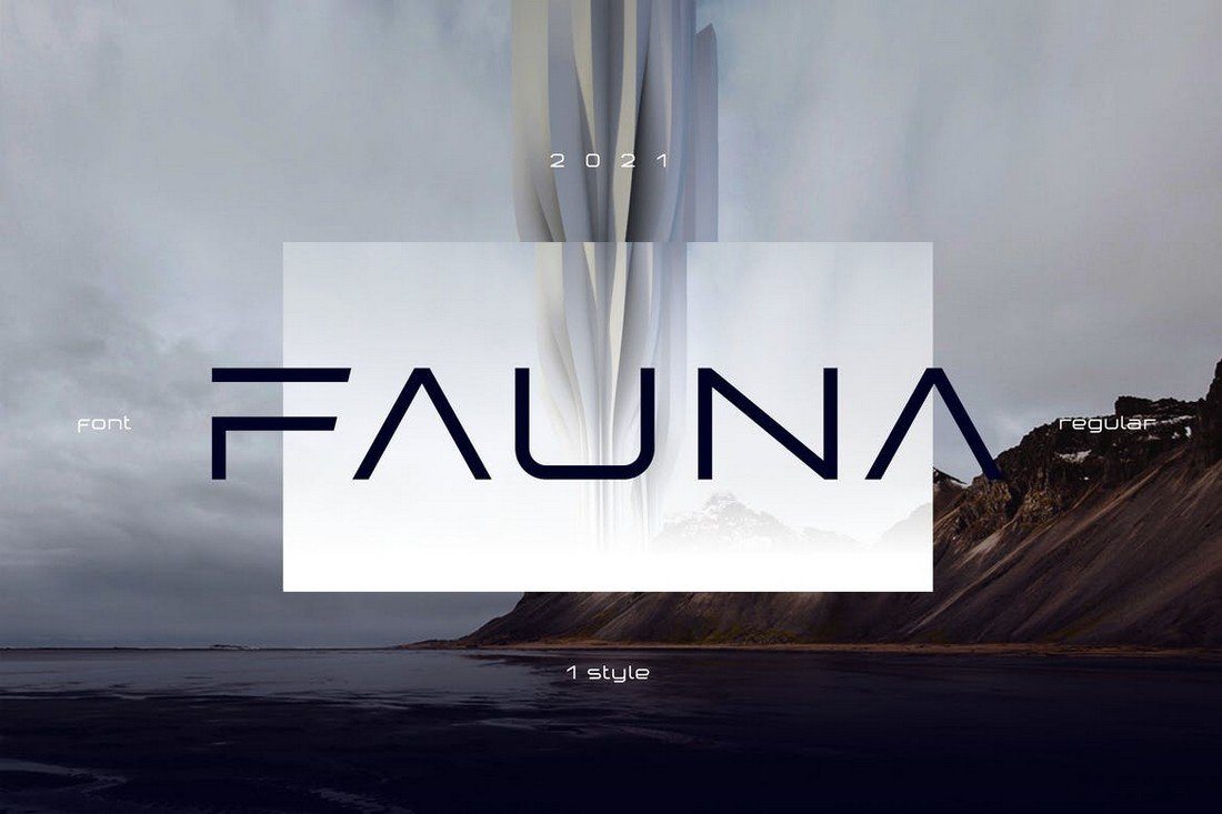 Fauna - Futuristic Display Font