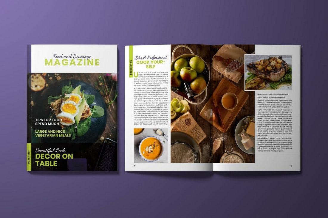 Food Magazine InDesign Template