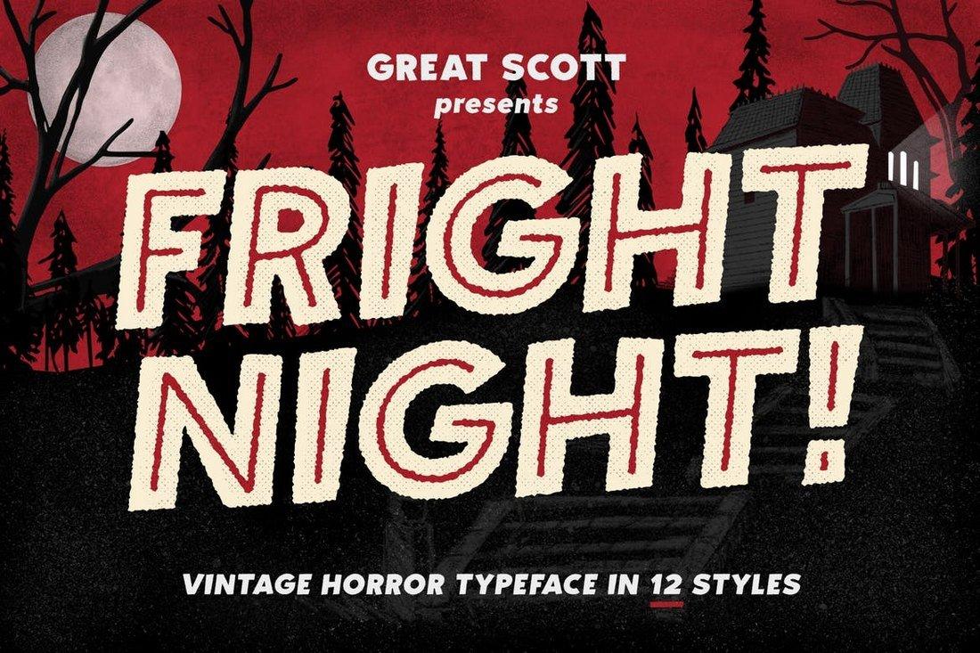 Fright Night - Vintage Horror Font