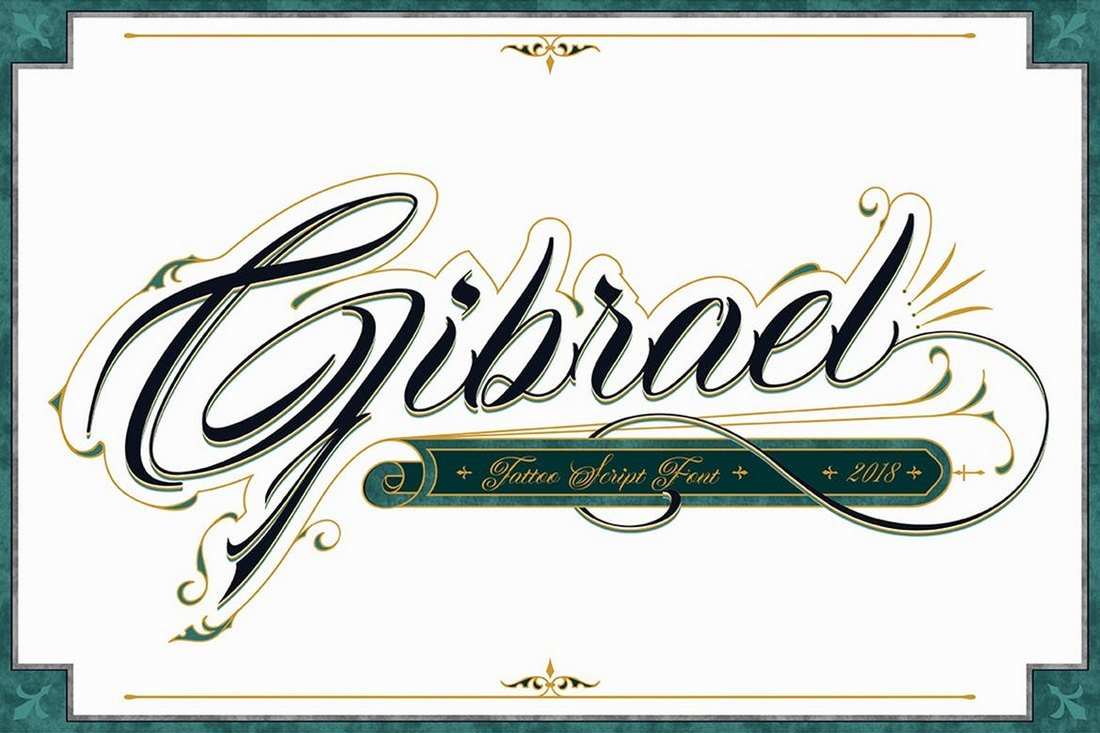 Gibrael - Tattoo Font