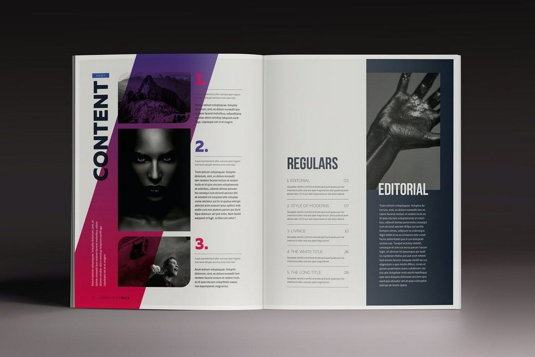 Gradient Magazine - Affinity Publisher Template
