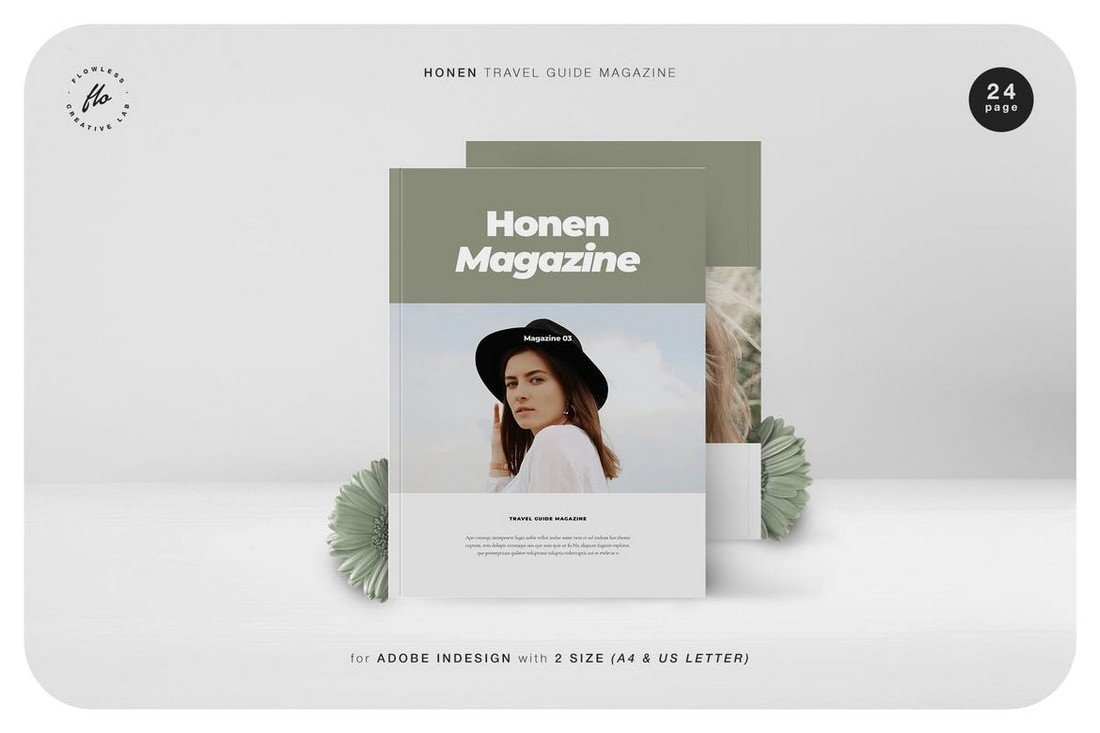 Honen Travel Guide Magazine InDesign Template