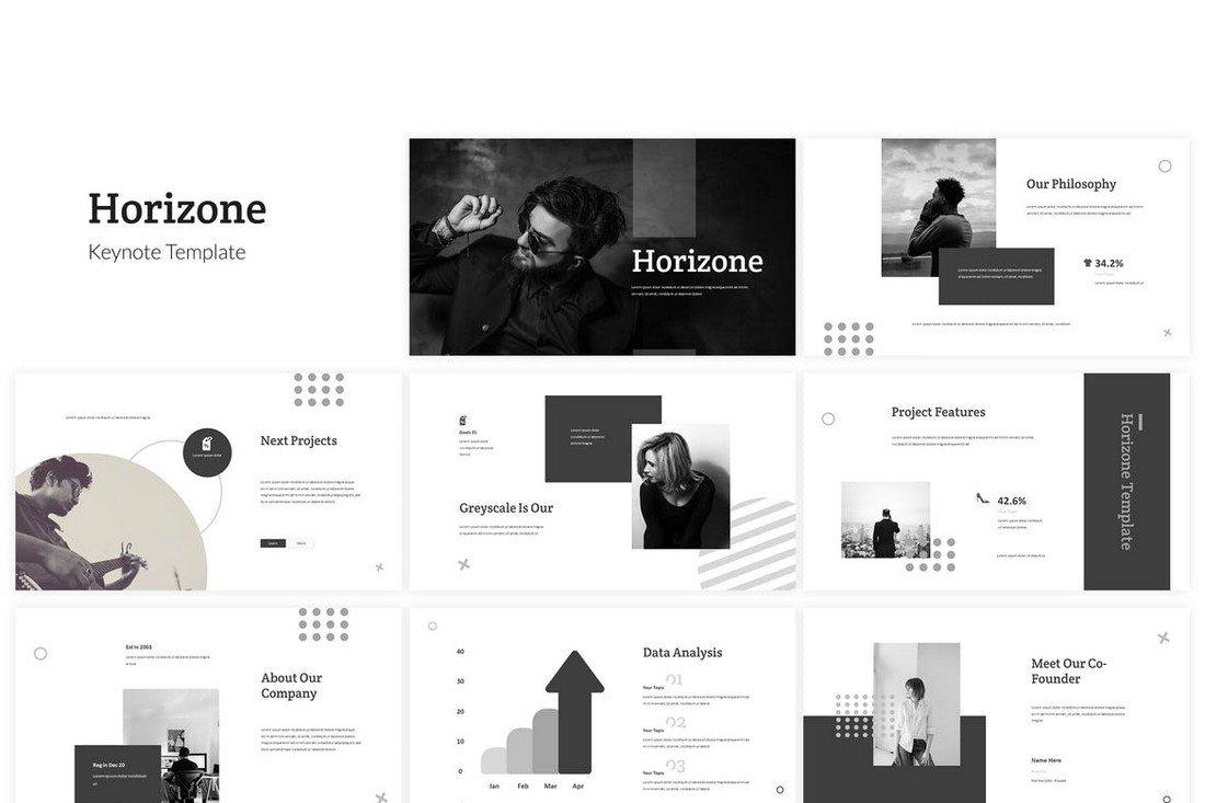Horizone - Minimal Keynote Template