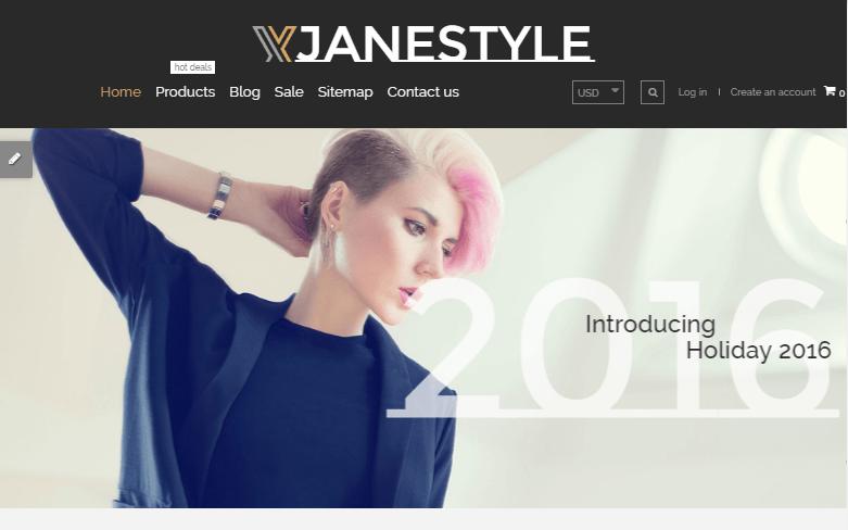JaneStyle Shopify Theme