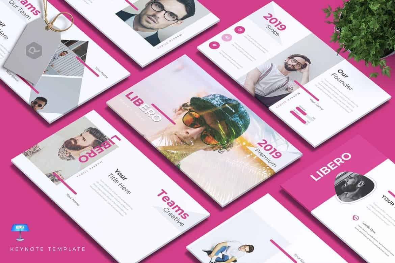 LIBERO - Colorful & Creative Keynote Template