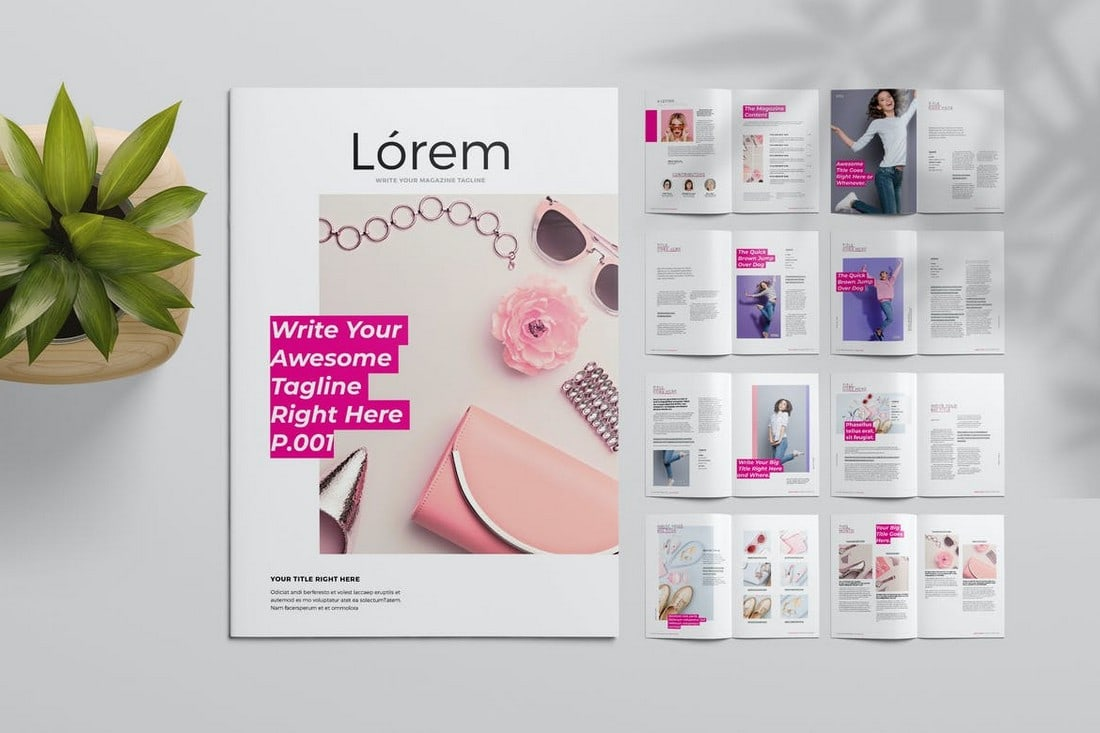 Lifestyle Magazine InDesign Template
