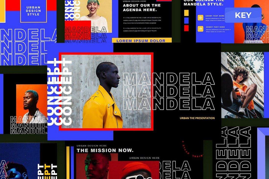 Mandela - Bold Keynote Presentation Template