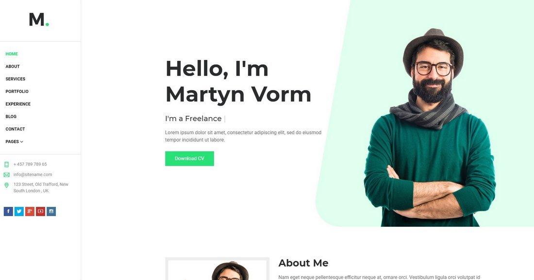 Martyn - Resume & Portfolio HTML Template