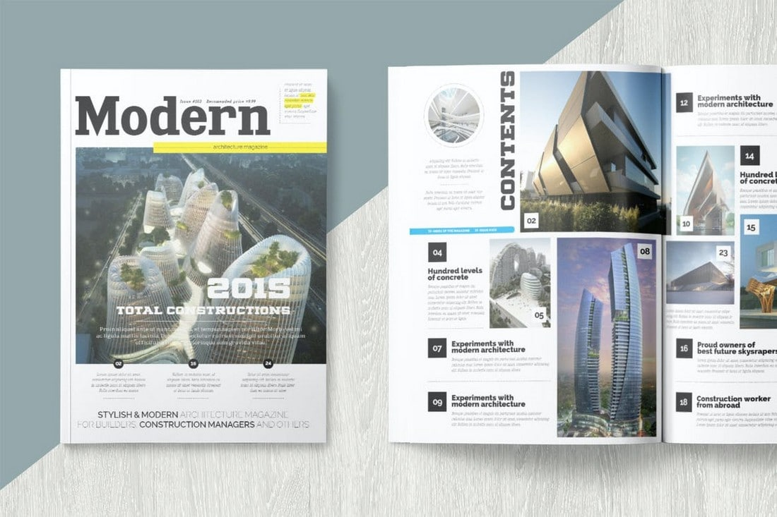 Modern InDesign Magazine Template