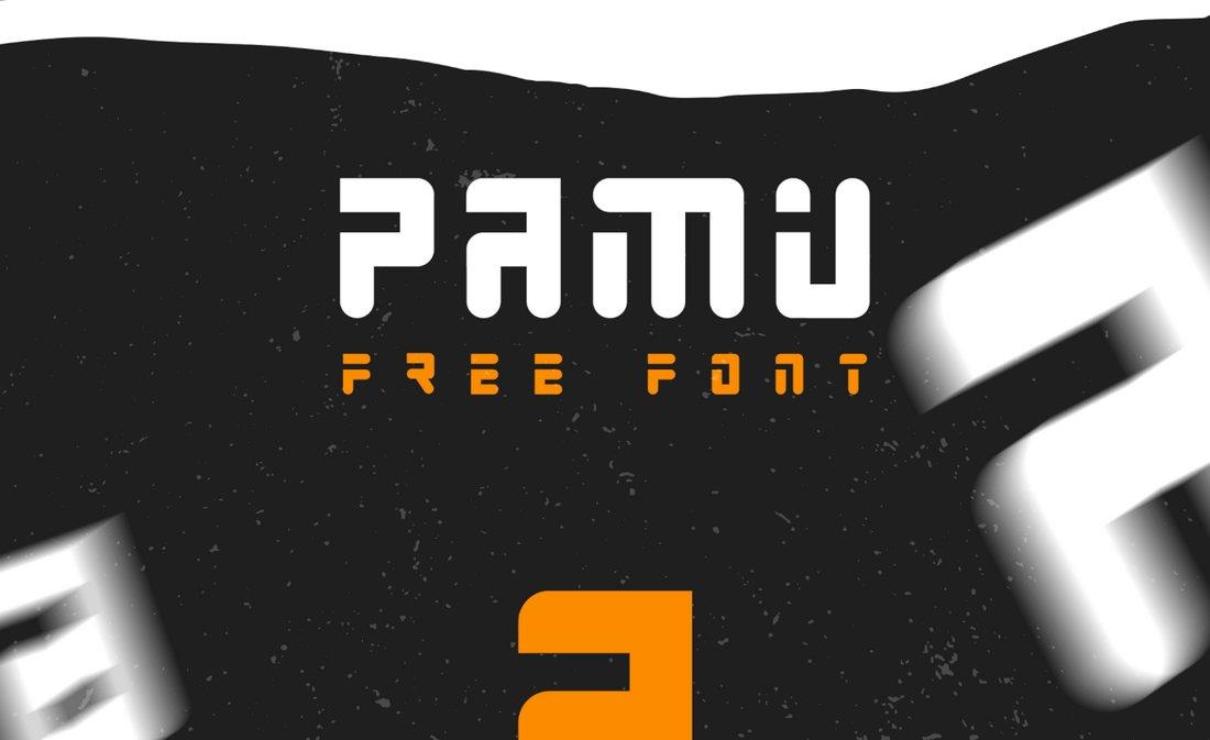 Pamu - Free Creative Futuristic Font