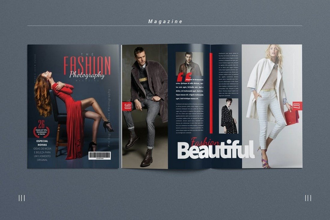 Photography Magazine InDesign Template