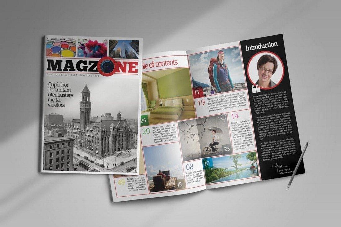 Professional InDesign Magazine Template