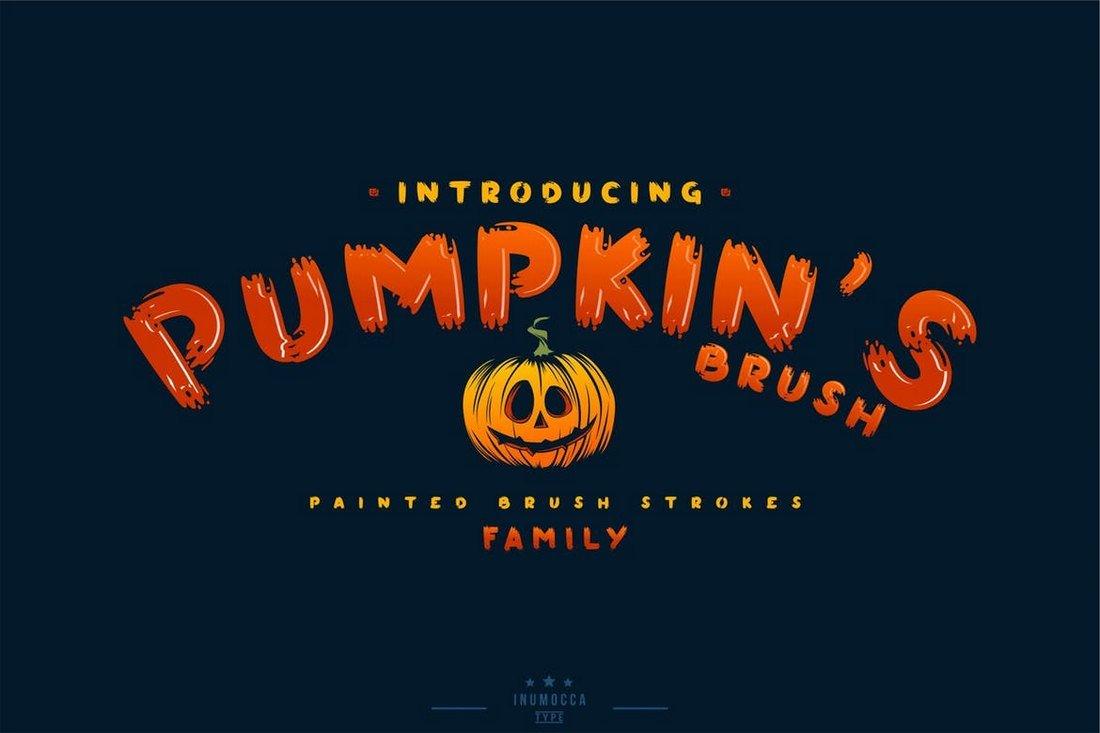 Pumpkin's Brush - Halloween Font