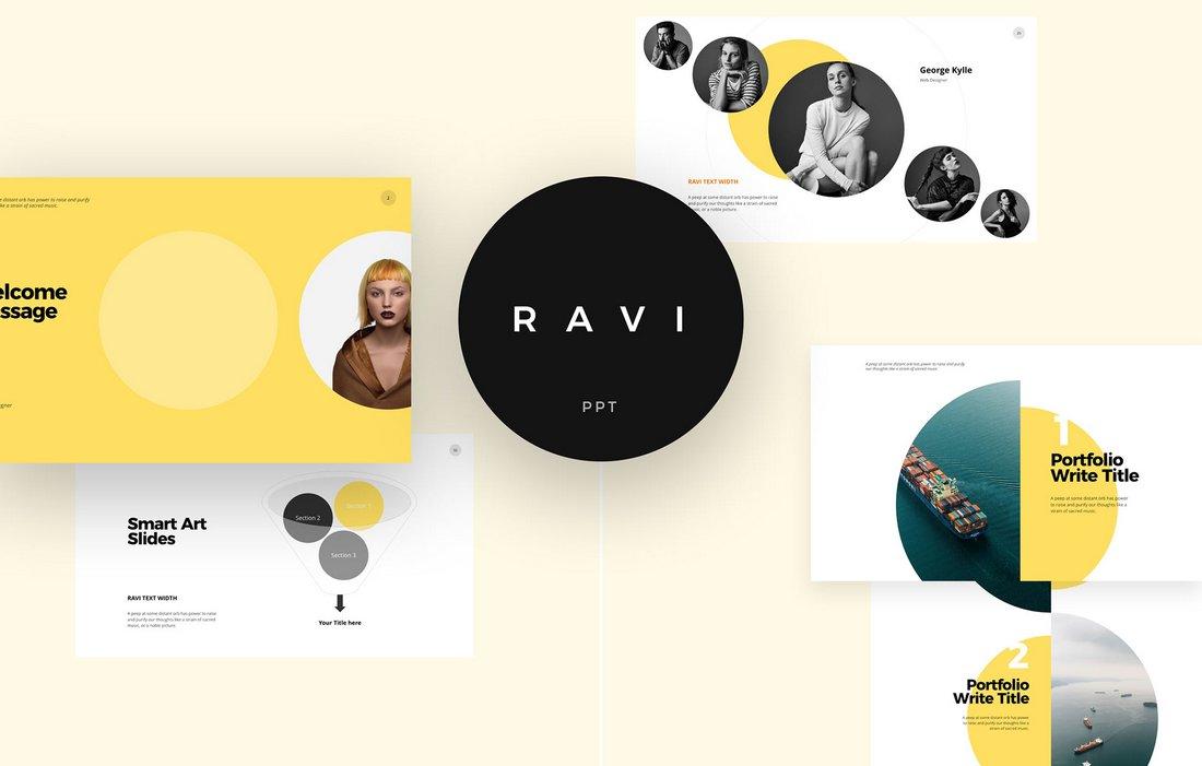 Ravi - Free Minimal Keynote Template