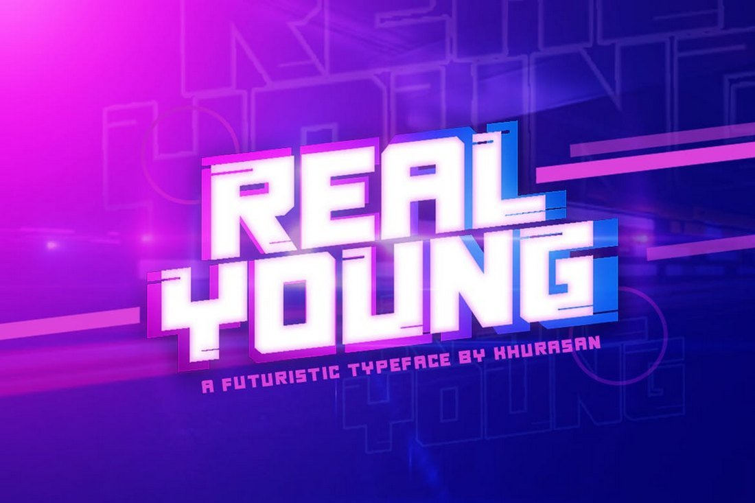 Real Young - Futuristic Font