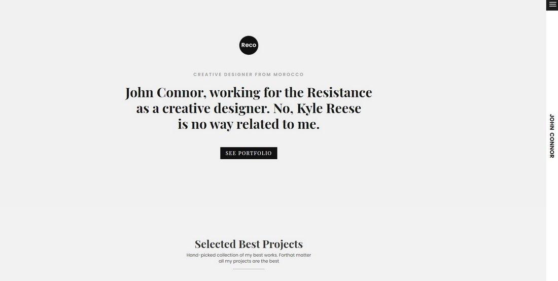 Reco - Personal Portfolio HTML Template