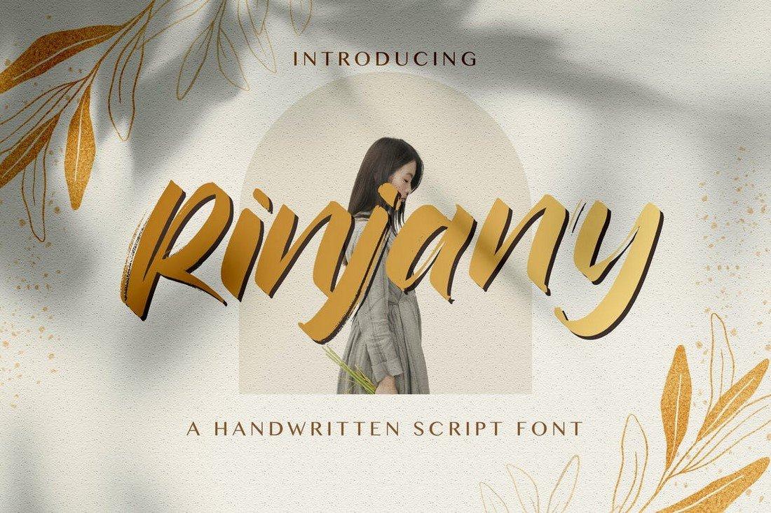 Rinjany - Textured Brush Font