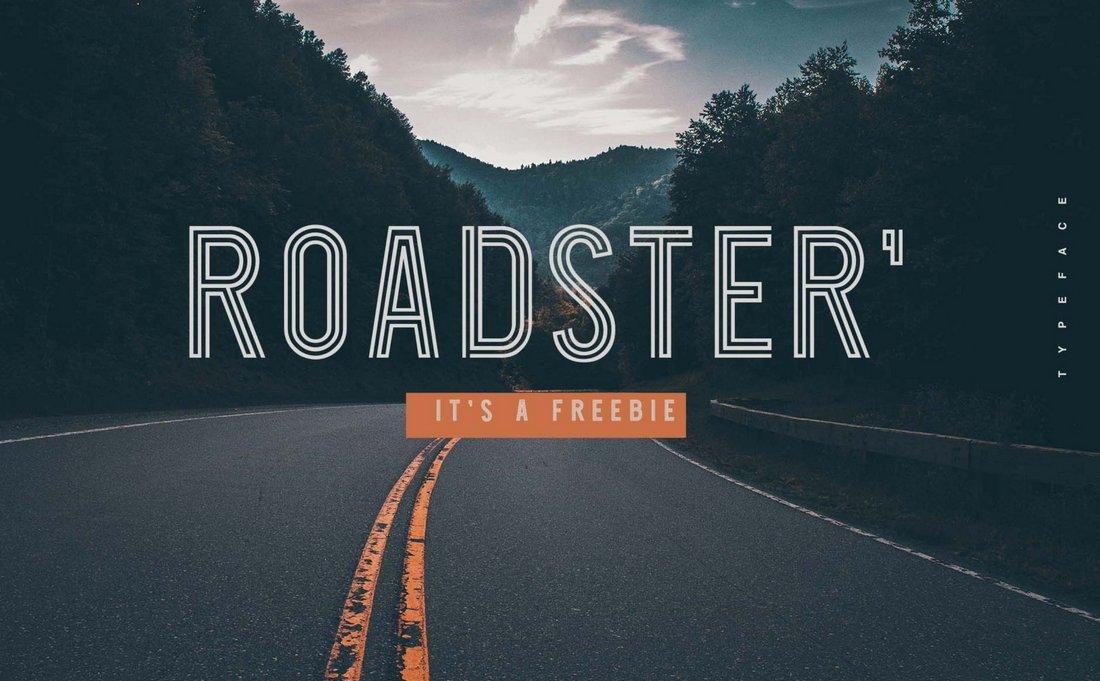 Roadster - Free Modern Outline Font