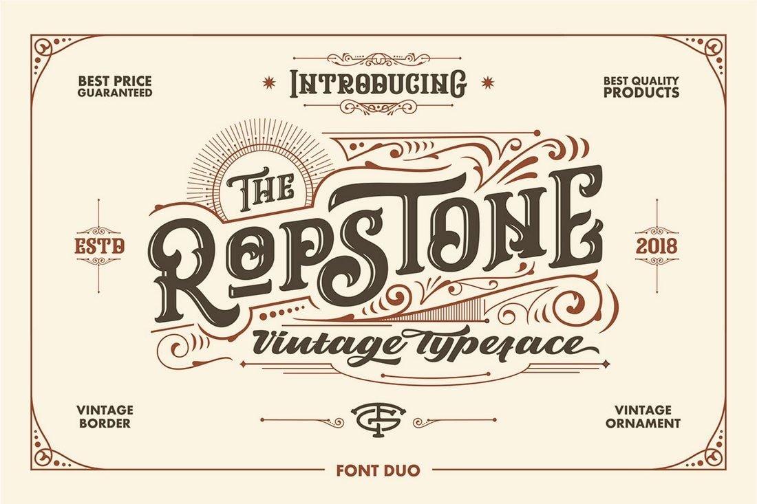 Ropstone - Free Tattoo Blackletter Font