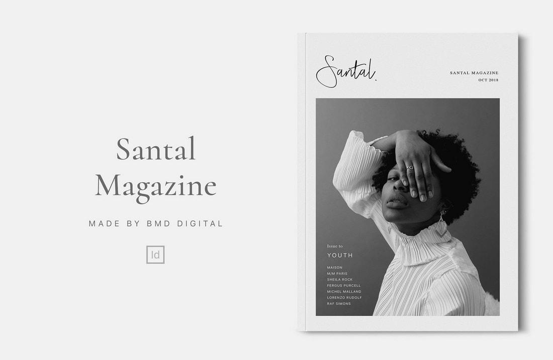 Santal - Free InDesign Magazine Template