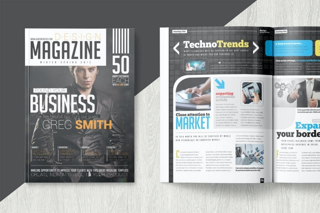 Technology Magazine InDesign Template