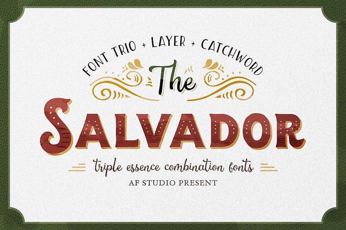 The Salvador - Retro Tattoo Font