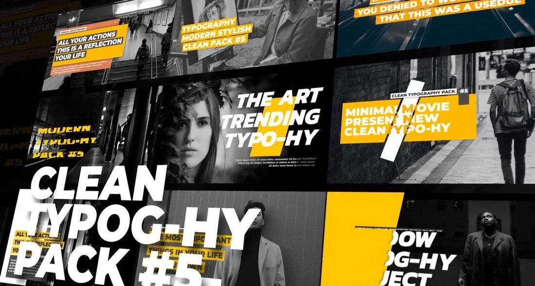 Typography Titles - Free Premiere Pro Template