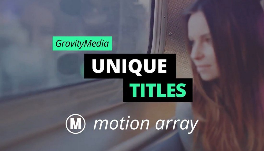 Unique Titles - Free Motion Graphics Template